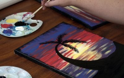 Learn to Paint an Island Sunset